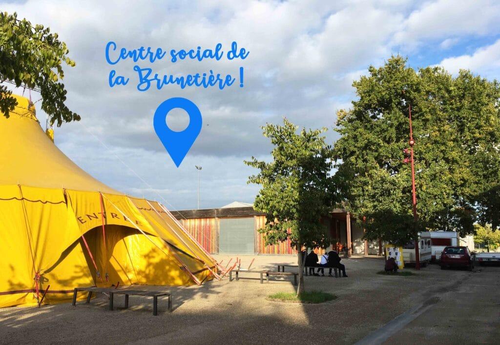Quartiers en scène 2020 chapiteau du Théâtre de la Gargouille à la Brunetière